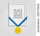 vector photo frame template... | Shutterstock .eps vector #433770052