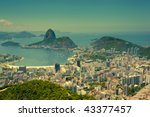 views Rio de Janeiro and Sugarloaf Mountain from Corcovado