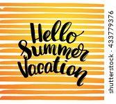 trendy hand lettering poster ... | Shutterstock . vector #433779376