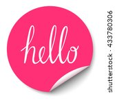 vector circle sticker with... | Shutterstock .eps vector #433780306