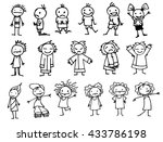 set of different people. a... | Shutterstock .eps vector #433786198
