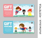 voucher  gift voucher kids ...   Shutterstock .eps vector #433787416