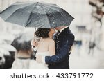 Groom Hides A Bride Behind An...