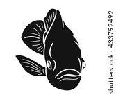 black silhouette of fish   Shutterstock .eps vector #433792492