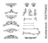 set of hand drawn doodle... | Shutterstock .eps vector #433793602