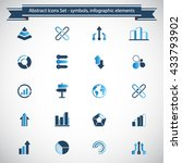 set of 20 abstract icons  ... | Shutterstock .eps vector #433793902