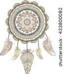hand drawn native american...   Shutterstock .eps vector #433800082