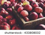 Red Autumn Apples In Farmhouse...