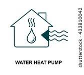 water heat pump | Shutterstock .eps vector #433810042
