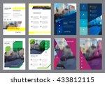 vector colorful flyers design...   Shutterstock .eps vector #433812115