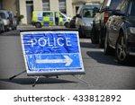 bath  uk   may 13  2016  police ... | Shutterstock . vector #433812892