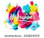 vector lettering in stereo... | Shutterstock .eps vector #433824355