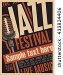 poster for the jazz festival... | Shutterstock .eps vector #433824406