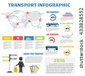 transport infographic set with... | Shutterstock .eps vector #433828552