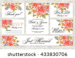 wedding invitation  thank you... | Shutterstock .eps vector #433830706