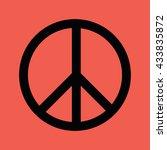 peace symbol vector icon | Shutterstock .eps vector #433835872
