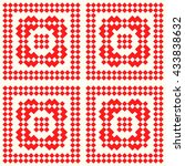 seamless pattern with symmetric ... | Shutterstock .eps vector #433838632