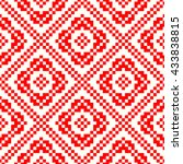 seamless pattern with symmetric ...   Shutterstock .eps vector #433838815