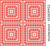 seamless pattern with symmetric ... | Shutterstock .eps vector #433839922