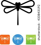 dragonfly icon | Shutterstock .eps vector #433843192