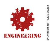 engineering text on logo rubber ... | Shutterstock .eps vector #433860385