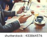 business people meeting working ... | Shutterstock . vector #433864576