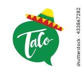 taco logo  mexican food logo... | Shutterstock .eps vector #433867282