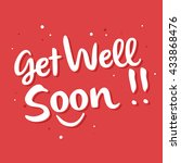 vector stock of get well soon... | Shutterstock .eps vector #433868476