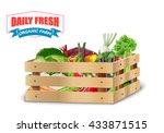 fresh vegetable in wooden... | Shutterstock .eps vector #433871515