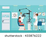 doctor and patient at... | Shutterstock .eps vector #433876222