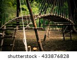 scout rope bridge | Shutterstock . vector #433876828