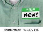 hello i am new words sticker...   Shutterstock . vector #433877146