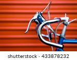vintage bicycle in front of an...   Shutterstock . vector #433878232