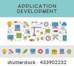 line concept web banner for app ... | Shutterstock .eps vector #433902232