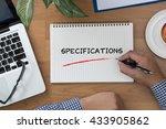 specifications man hand... | Shutterstock . vector #433905862