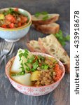 lentils with  vegetables  ... | Shutterstock . vector #433918678