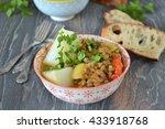 lentils with  vegetables  ... | Shutterstock . vector #433918768