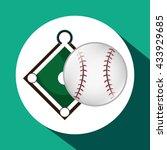 baseball design. sport icon.... | Shutterstock .eps vector #433929685