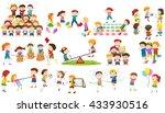 children play different kind of ... | Shutterstock .eps vector #433930516