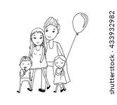 happy family with children.... | Shutterstock .eps vector #433932982
