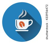 coffee cup icon. flat design....