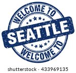 welcome to seattle. stamp | Shutterstock .eps vector #433969135