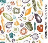healthy food vector background. ... | Shutterstock .eps vector #433971142