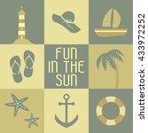 vector illustration summer... | Shutterstock .eps vector #433972252