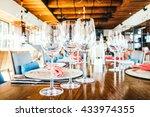 selective focus point on wine... | Shutterstock . vector #433974355