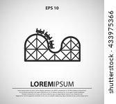 roller coaster icon. roller... | Shutterstock .eps vector #433975366