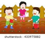 the seeding of children. | Shutterstock .eps vector #433975882
