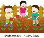 seedling children who plant it  ... | Shutterstock .eps vector #433976302