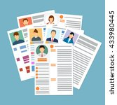 cv concept resume with photo ... | Shutterstock .eps vector #433980445