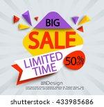 big sale    limited time banner.... | Shutterstock .eps vector #433985686